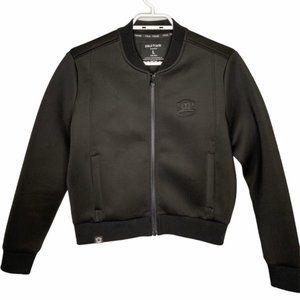 Rare Paul Frank Neoprene Scuba Black Bomber Jacket